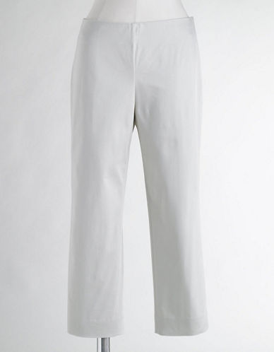 Cotton Sateen Slim Capri Pants
