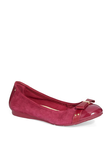 COLE HAAN Monica Suede Flats with Bow Accent