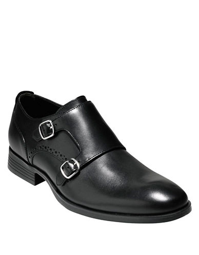 COLE HAANCopley Leather Double Monk Strap Loafers