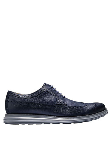 COLE HAAN Lunargrand Leather Long Wingtip Oxfords