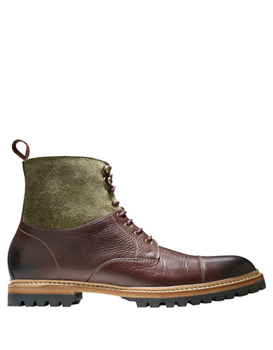 COLE HAAN Judson Leather Cap Toe Ankle Boots