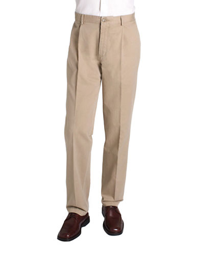 BLACK BROWN 1826Pleated Cotton Twill Pants
