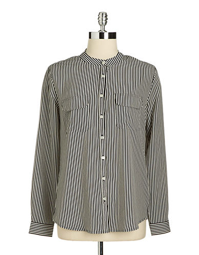 LORD & TAYLOR Petite Bengal Striped Shirt