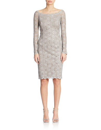 Cachet Sequined Lace Sheath Dress