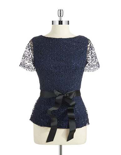 CACHETSequin and Lace Top