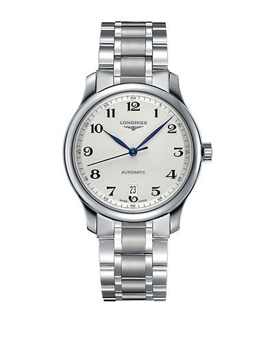 LONGINESMens Master Collection Stainless Steel Bracelet Watch