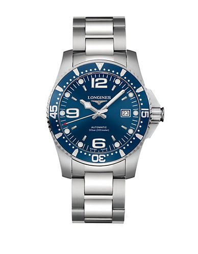 LONGINESMens HydroConquest Stainless Steel Watch