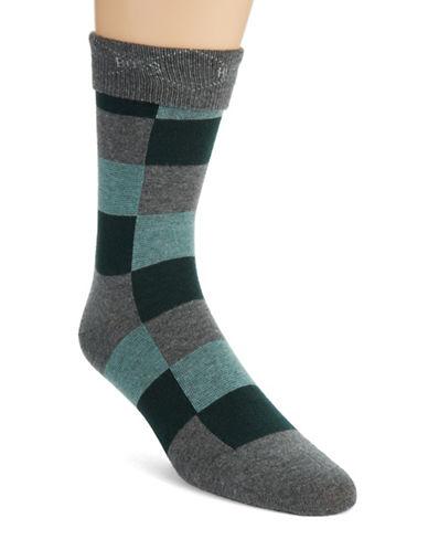 HUGO BOSSChecked Cotton Blend Dress Socks