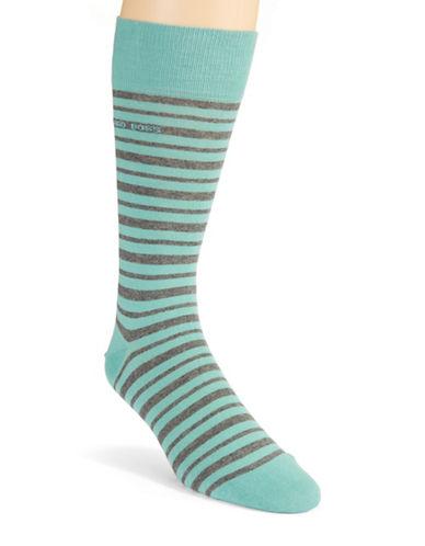 HUGO BOSSStriped Cotton Blend Dress Socks