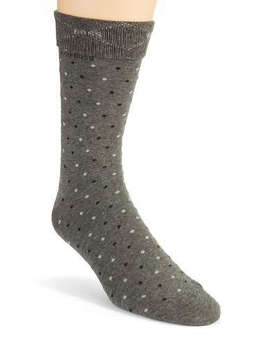HUGO BOSSPolka Dot Cotton Blend Dress Socks