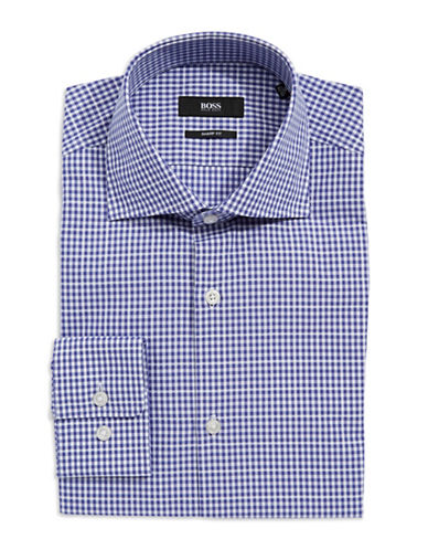 HUGO BOSS Sharp-Fit Checkered Dress Shirt