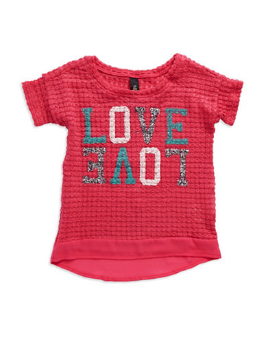 JESSICA SIMPSON Girls 2-6x Graphic Knit Tee