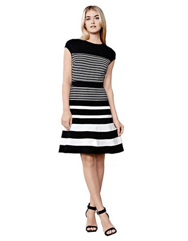 JULIA JORDANOttoman Stripe Fit and Flare Dress