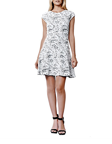 JULIA JORDANRio Lace Print A-Line Dress