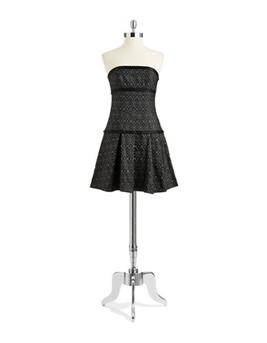 A.B.S. BY ALLEN SCHWARTZPatterned Fit and Flare Dress