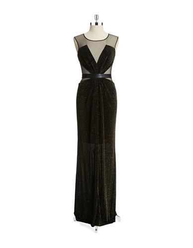 Shop A.B.S. By Allen Schwartz online and buy A.B.S. By Allen Schwartz Mesh and Metallic Gown dress online