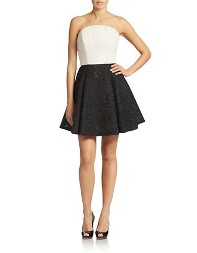 A.B.S. By Allen Schwartz Jacquard Fit and Flare Dress