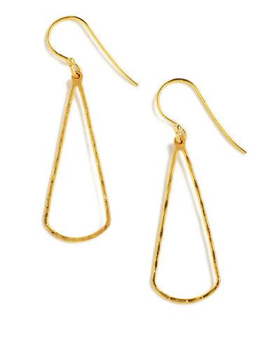 LORD & TAYLOR18 Kt Gold Over Sterling Silver Open Teardrop Drop Earrings