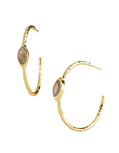 LORD & TAYLORPendant-Accented Open Hoop Earrings