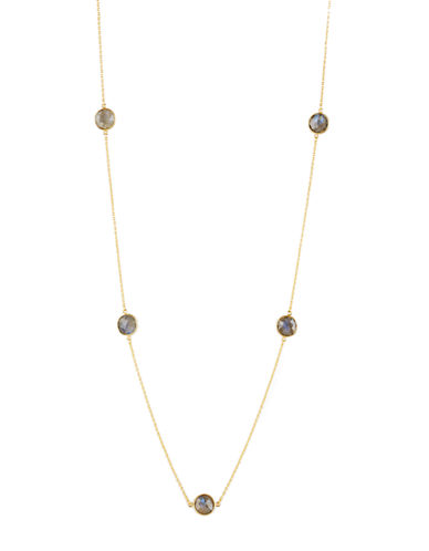 LORD & TAYLORGold-Tone Chain Necklace with Round Stud Pendant Accents