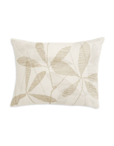 calvin klein female mirabelle mesh leafprint decorative pillow