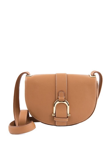 sam edelman female jeanne halfmoon leather saddle bag