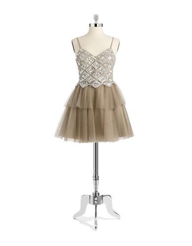 BASIXSquare Mesh Party Dress
