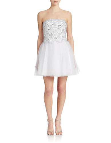 BASIXStrapless Sequined Cocktail Dress