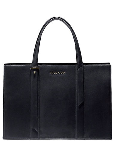 COLE HAANVestry Leather Gusseted Satchel