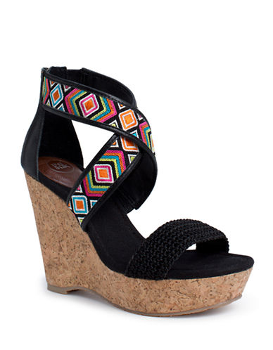 Shop The Sak online and buy The Sak Mason Cork Wedge Sandals shoes online
