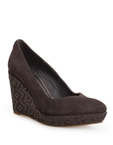ELLIOTT LUCCA Dolce Suede Wedges