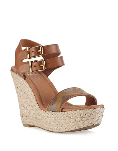 ELLIOTT LUCCA Giulia Platform Wedge Sandals