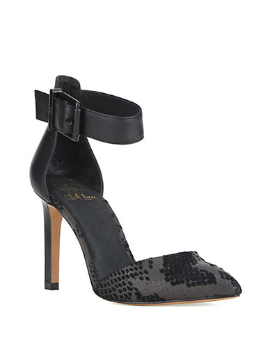 ELLIOTT LUCCA Chiara Leather Ankle-Strap Pumps
