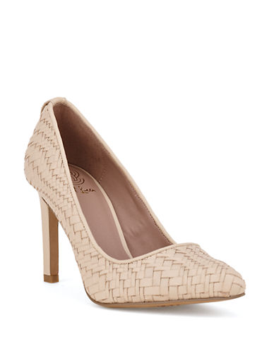 Shop Elliott Lucca online and buy Elliott Lucca Catalina Woven Leather Pumps shoes online