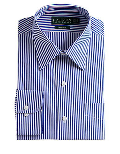LAUREN RALPH LAUREN Regular Fit Non-Iron Striped Dress Shirt