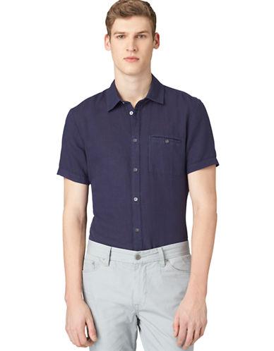 CALVIN KLEIN JEANSModern Fit Washed Reactive Garment Dye Sport Shirt