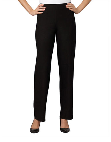 EILEEN FISHER Petite Black Straight-Leg Pants