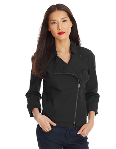 EILEEN FISHER Stretch Cotton Moto Jacket