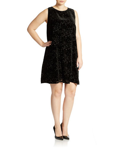 Shop Eileen Fisher Plus online and buy Eileen Fisher Plus Plus Velvet Burnout Dress dress online