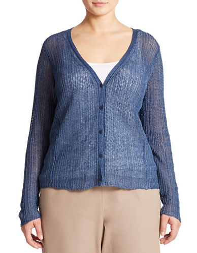 EILEEN FISHER PLUS Plus Linen Cardigan