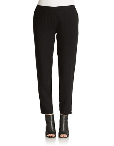 EILEEN FISHER PLUS Plus Organic Cotton Ankle Pants