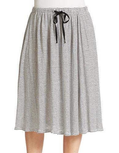 EILEEN FISHER PLUSPlus Striped Drawstring Skirt