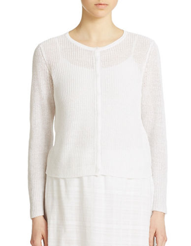 EILEEN FISHER PLUS Plus Long Sleeve Knit Cardigan