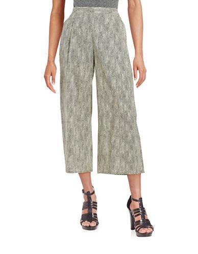 Plus Pleated Patterned Pants plus size,  plus size fashion plus size appare