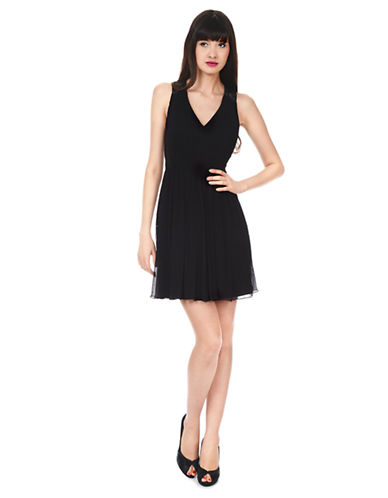 PHOEBE COUTURESilk Chiffon Fit and Flare Dress