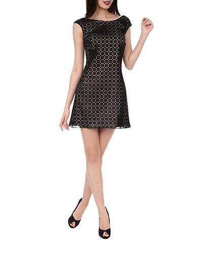 Phoebe Laser Cut Shift Dress