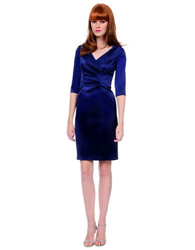 Shop Kay Unger online and buy Kay Unger Shawl-Collar Dress dress online