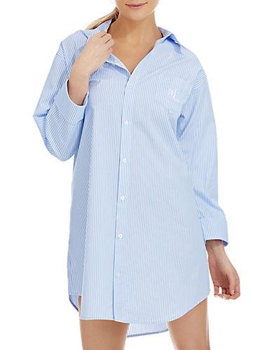 LAUREN RALPH LAURENFrench Striped Sleep Shirt