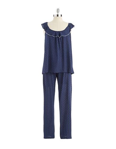 OSCAR DE LA RENTATwo Piece Polka Dot Pajama Set