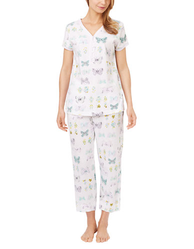 Carole Hochman Butterfly Print Pajama Set